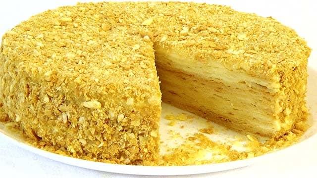 Торт наполеон нежный