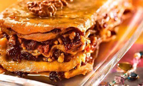 Восточный пирог с орехами