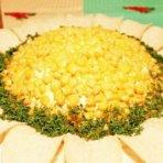 Как делать салат подсолнух