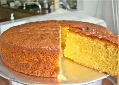 Торт бисквитный на сметане