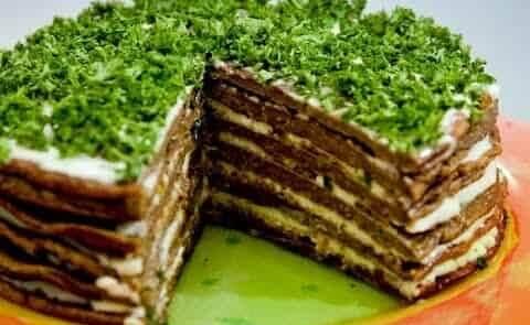 Домашний печёночный пирог