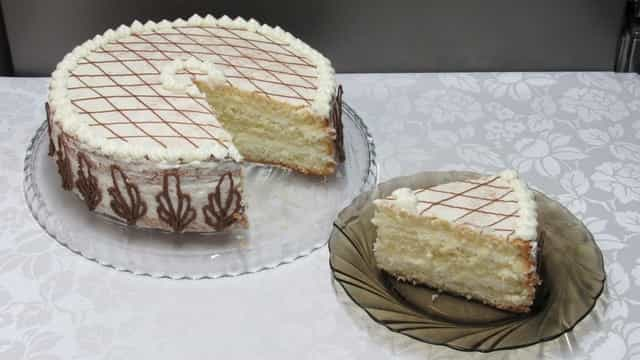 Домашний торт Белоснежка
