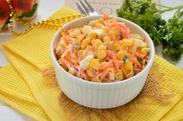 Домашний салат с корейской морковью